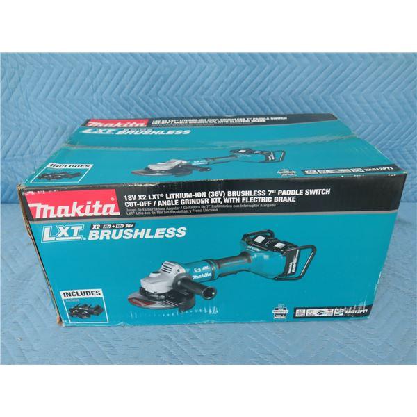 """Makita XAG12PT1 Grinder 7"""" LXT Brushless 36V Kit New in Box"""