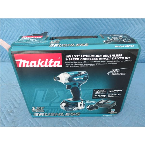 Makita XDT01 Impact Driver 18V 3 Speed BL (Tool Only) New in Box