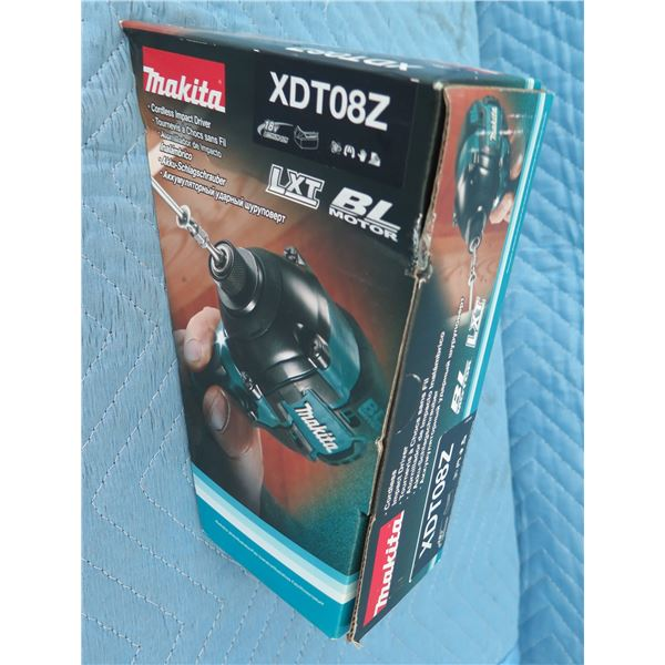 Makita XDT08Z Impact Driver 18V 1 Speed BL XDT 12Z New in Box