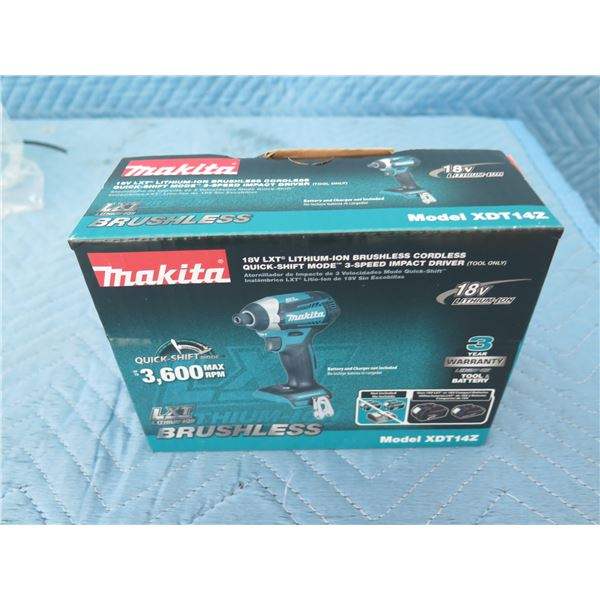 Makita XDT14Z Impact Driver 18V 3 Speed Brushless (Tool Only) New in Box