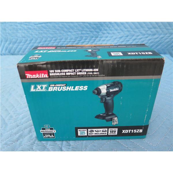 Makita XDT15ZB Sub-Compact Impact Driver 18V BL New in Box