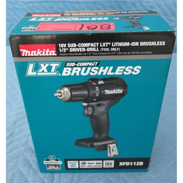 Makita XFD11ZB Sub-Compact Drill Driver 18V BL New in Box