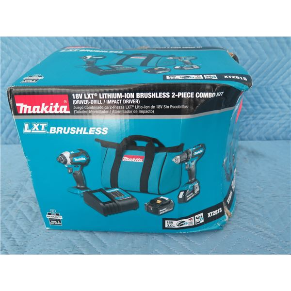 Makita XT281S Combo Kit 18V 2 Piece LXT Brushless New in Box