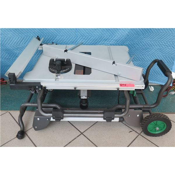 """Hitachi Metabo C10RJ Saw Table 10"""" w/ Roll Stand New"""