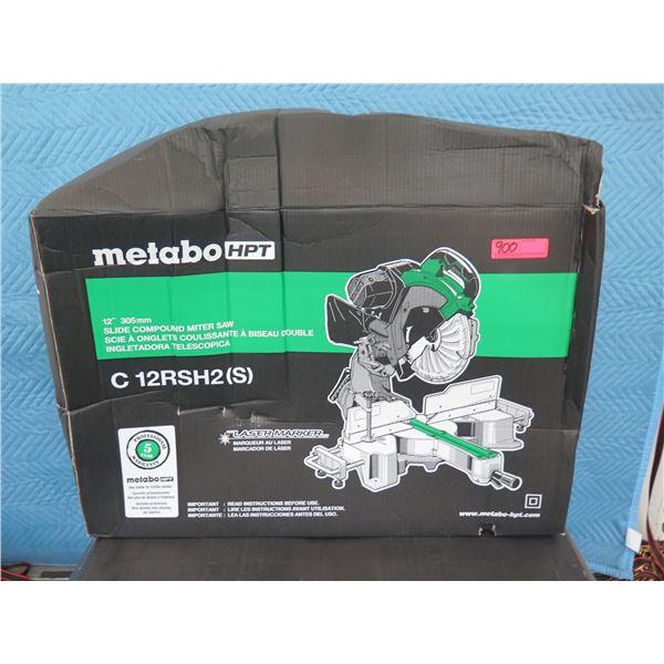 "Hitachi Metabo C12RSH Compound Miter Saw 12"" Slide Laser New in Box"