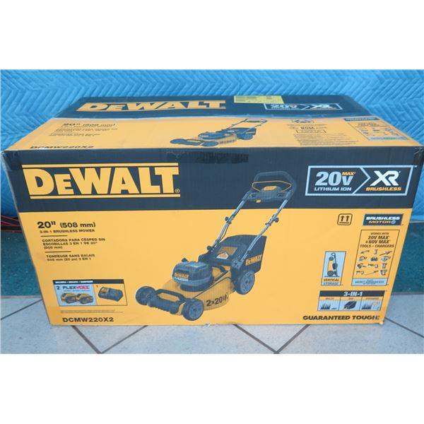DeWalt DCMW220X2 Lawn Mower 20V W/2 DCB609 New in Box