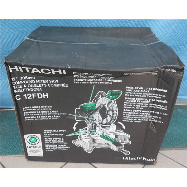 """Hitachi Metabo C12FDH Compound Miter Saw 12"""" Dual Laser New in Box"""