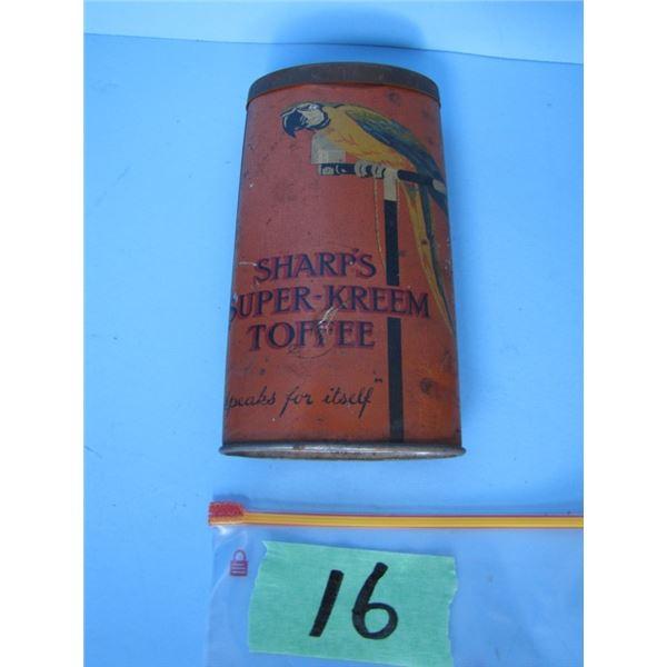 Sharp's super kreem toffee tin