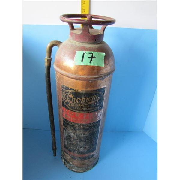 copper Phomene fire extinguisher