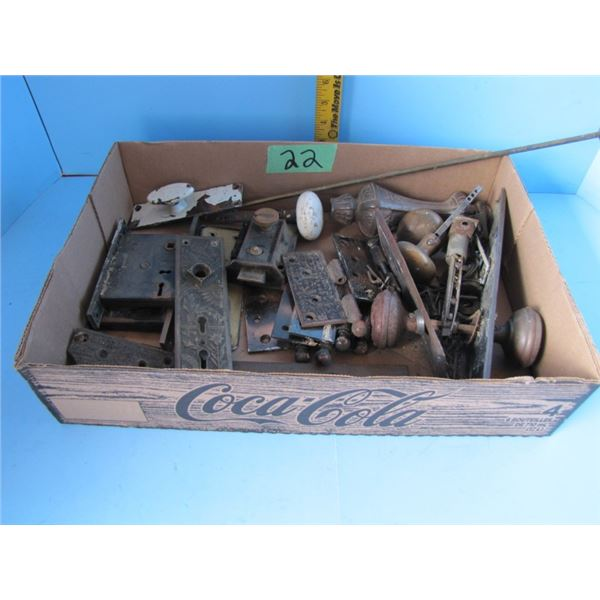 collection of old door knobs and locks