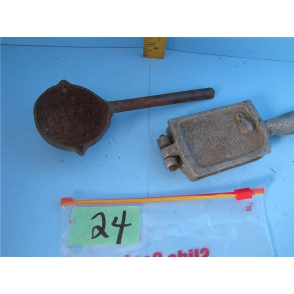 ladle and fish sinker mold