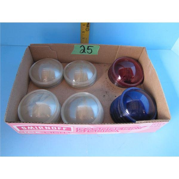 Kliegl Bros. N.Y.C. stage light  lenses - 18 clear, 8 Blue, 6 red