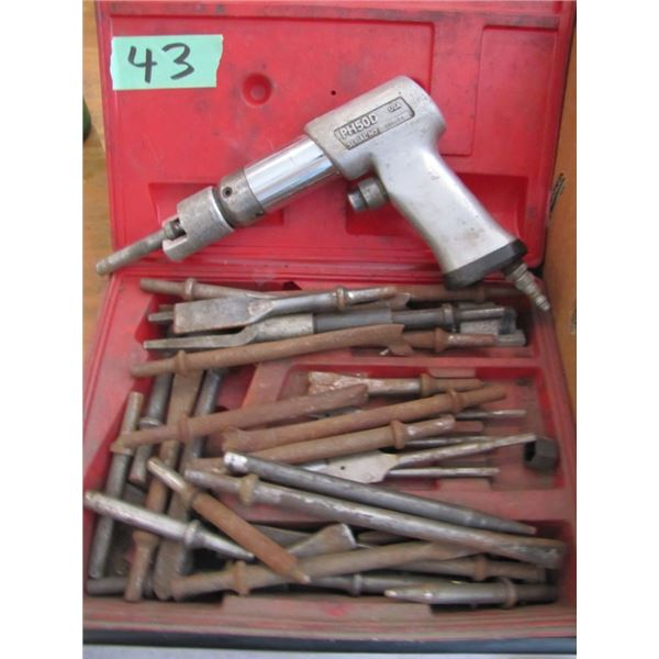air chisel with chisels
