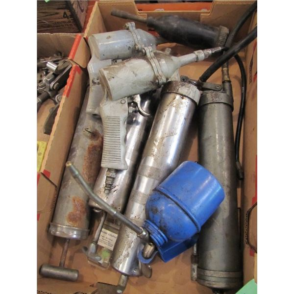 air operated and hand operated grease guns