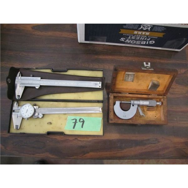 calipers and micrometer