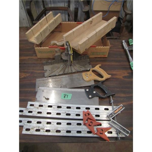 miter boxes and frame clamp