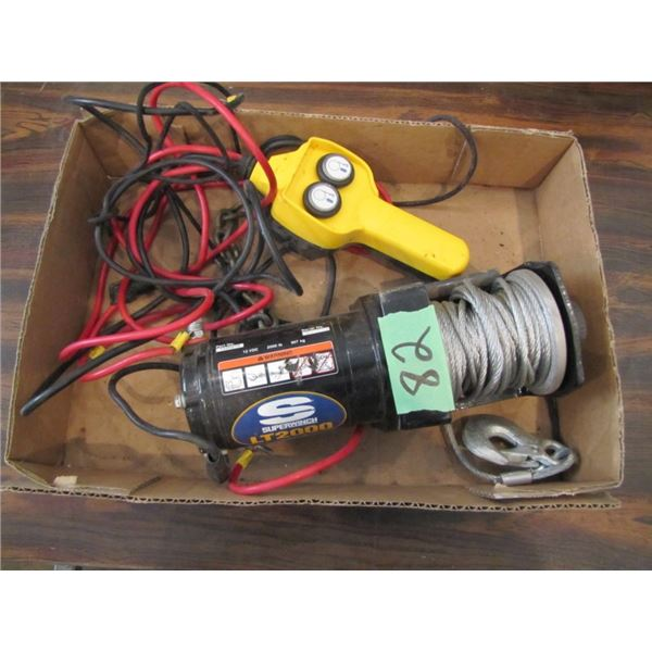 12 volt super winch LT 2000 with wired remote - 2000 lb