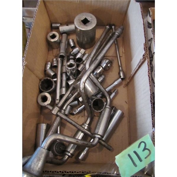 speed wrenches and various sockets