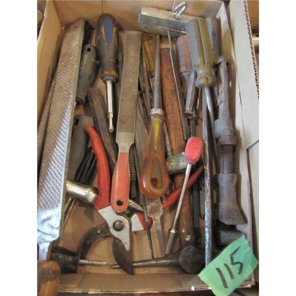 files, chisels, screwdrivers