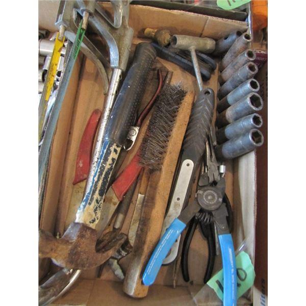 hack saws, impact sockets, pliers