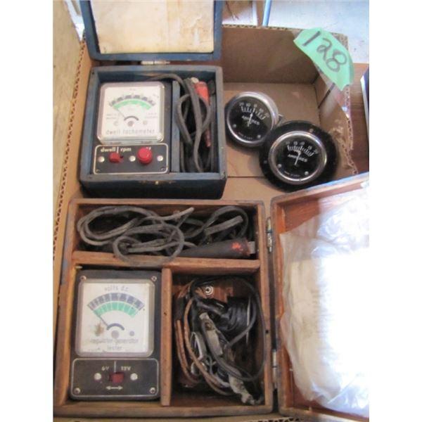 dwell tachometer, regulator generator tester