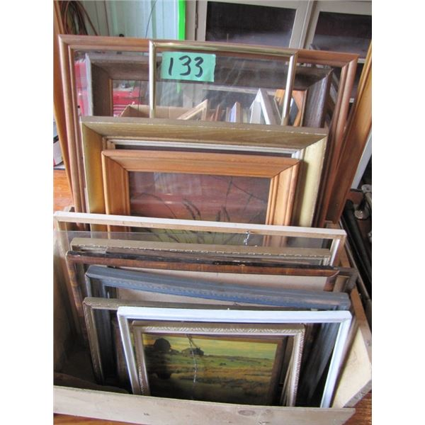 3 boxes of picture frames