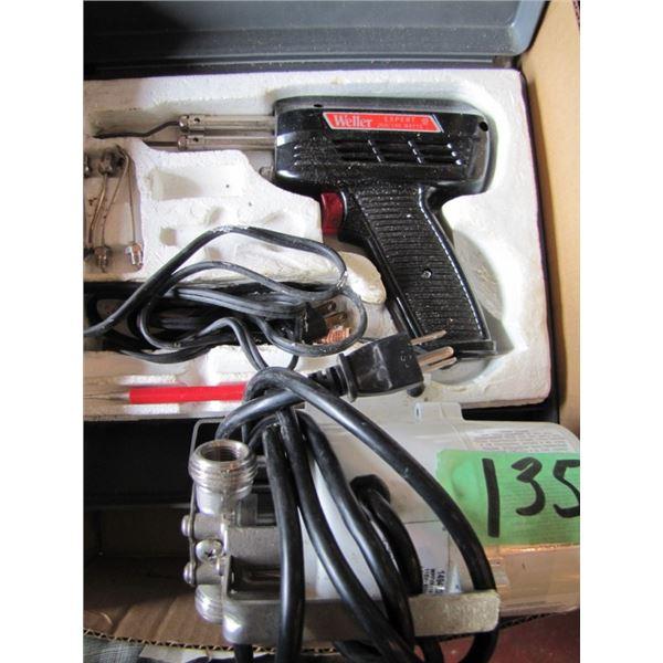 soldering gun, water pump
