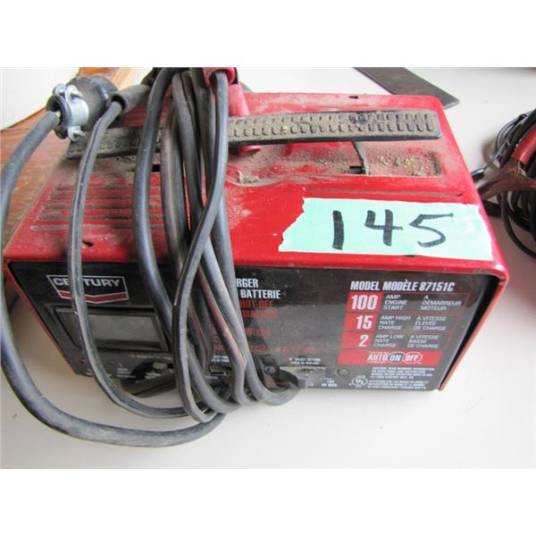 century battery charger - works - 1 switch missing