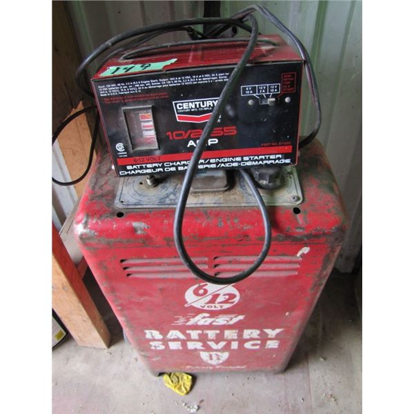 lot of two non working battery chargers