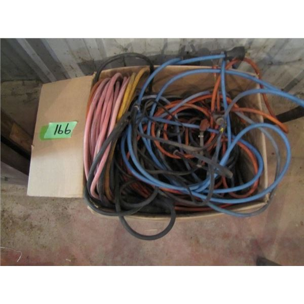 box of assorted extension cords