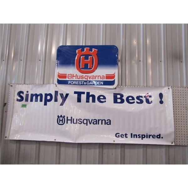 Husqvarna tin sign and vinyl sign
