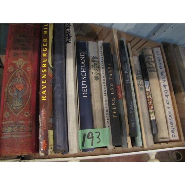 box of assorted German language books