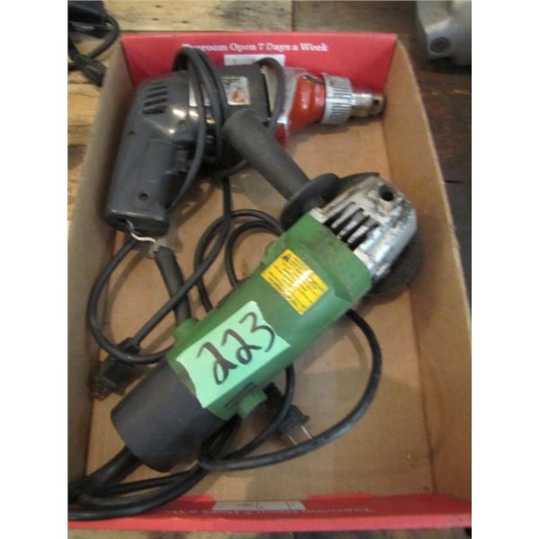 box with angle grinder and drill