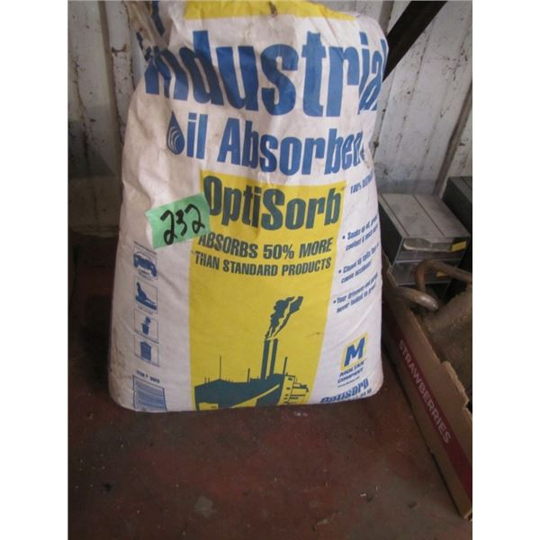 bag of industrial oil absorbent