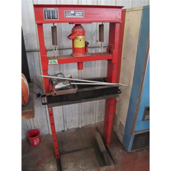 shur lift shop press 20 ton capacity