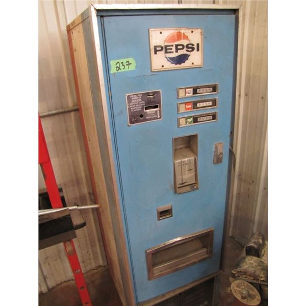 Pepsi cooler non working interior missing - see pictures