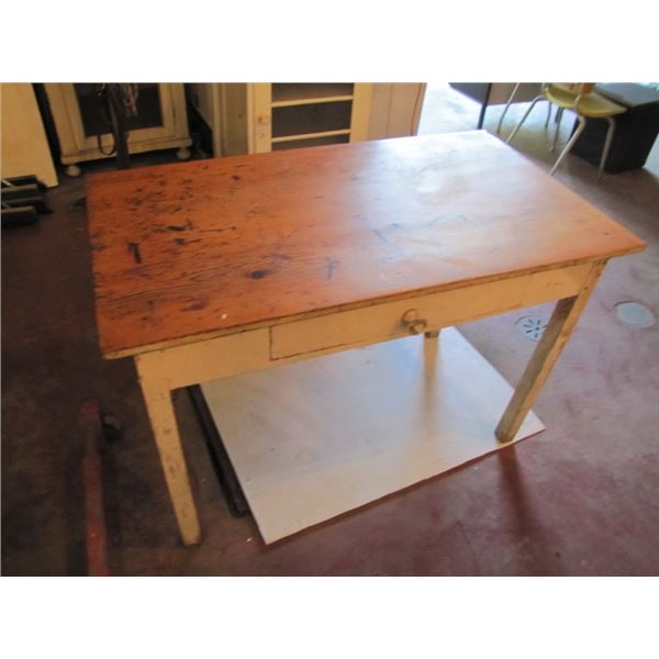 lot of two wood frame tables