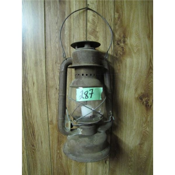 beacon coal oil lantern with candle