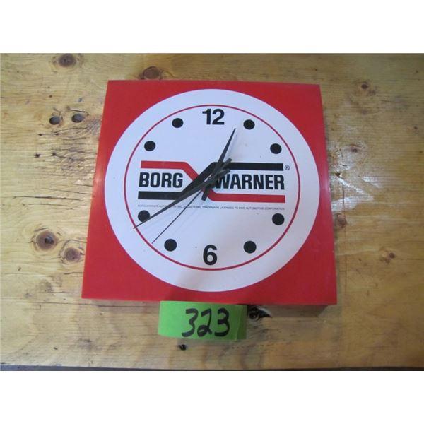 Borg Warner advertising clock