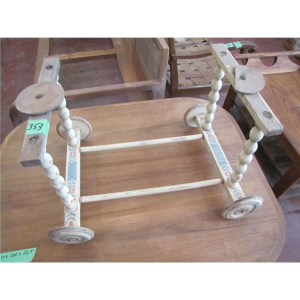 wood frame for baby carriage or something like that