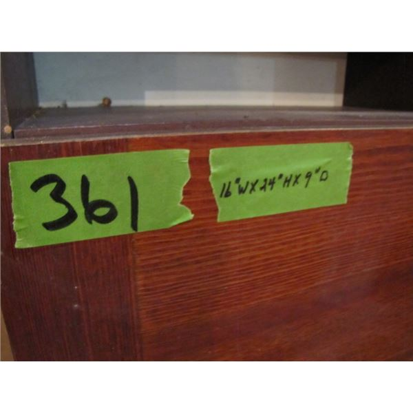 3 particle board cabinets
