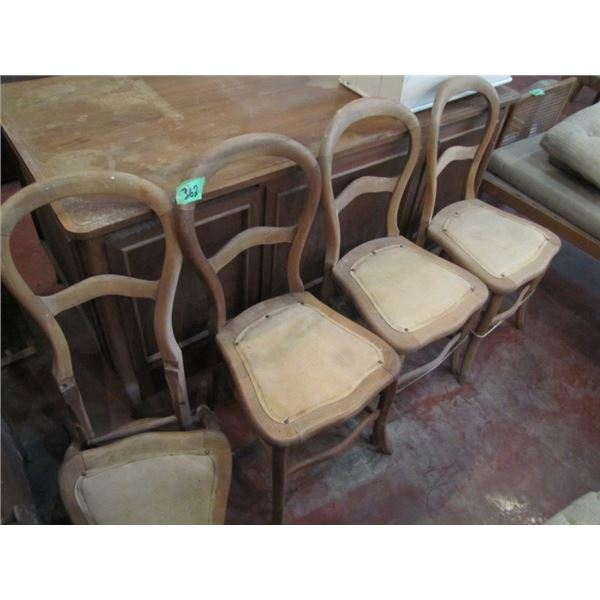 four hoop back chairs all need to be re glued one needs major repair