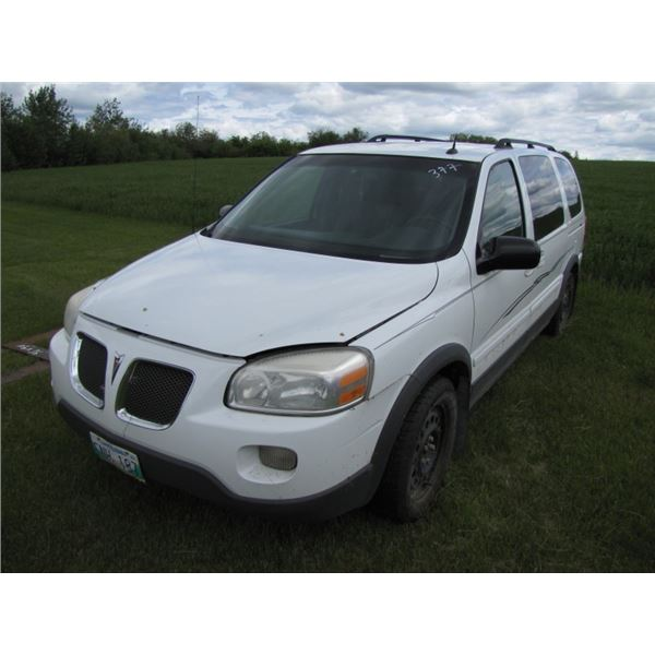 2005 Pontiac Montana SV6, 6 CYL, 3.5 LITER, AUTOMATIC,  341,322 kilometers showing, starts and drive