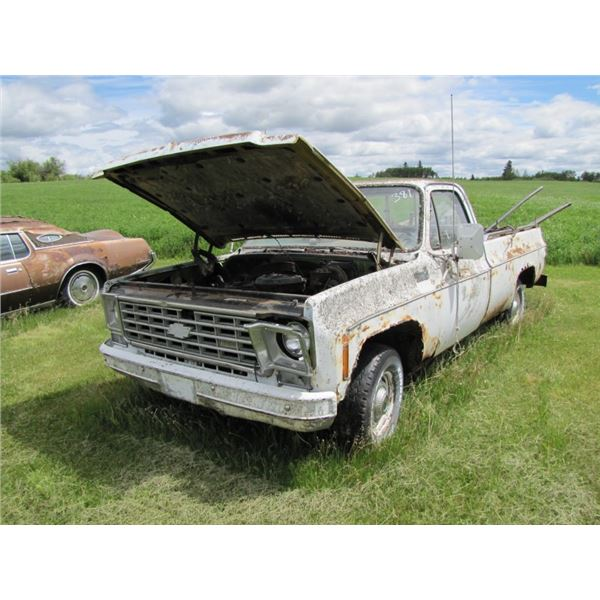 1976 Chevy custom deluxe truck, 350 ENGINE,  FOR PARTS - have the keys and TOD