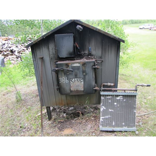 Canadian cold killer hot water outdoor wood furnace with two Rads