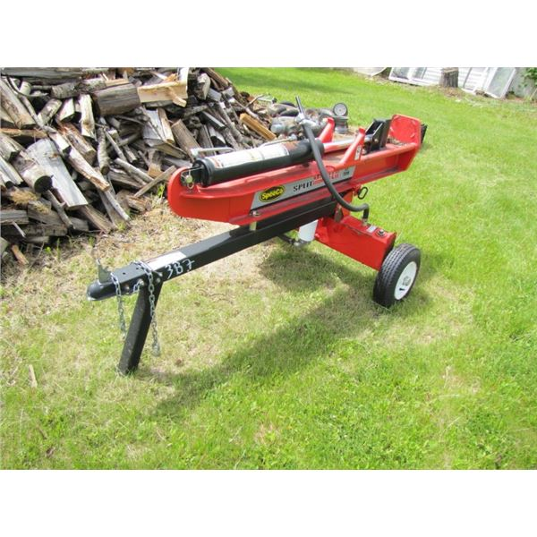 SpeeCo split master 22 ton wood splitter hydraulicly operated - started on 3rd full