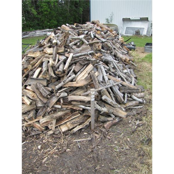 lot of split wood my guess is 2 to 3 cords