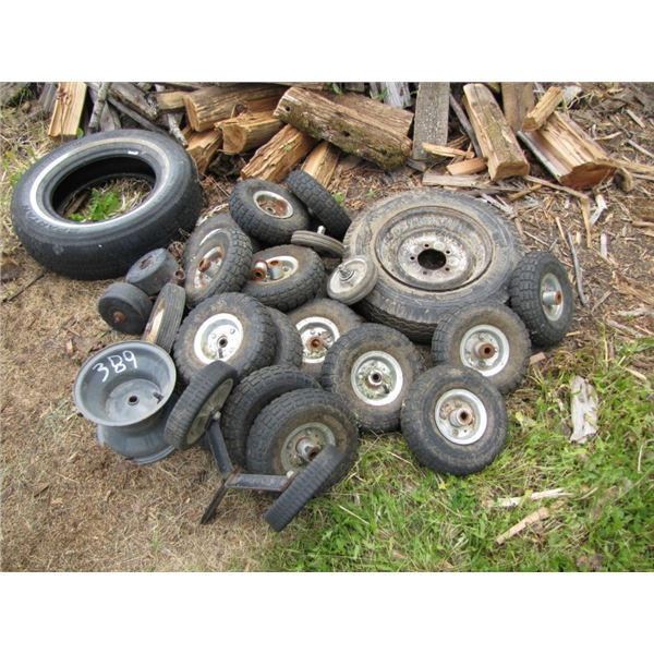 lot of assorted small wheels