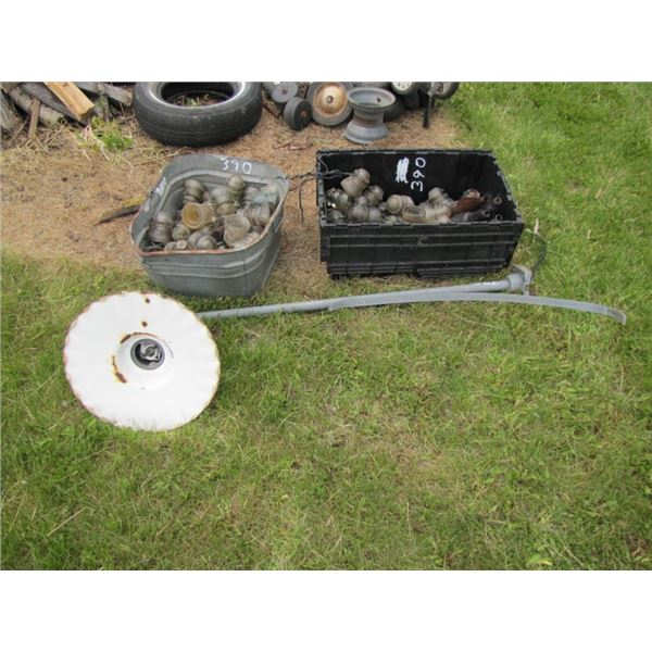 lot with insulators and yard lite