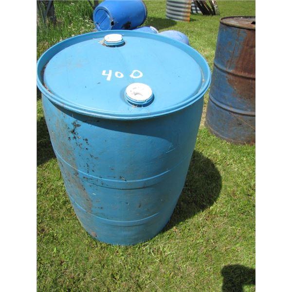 plastic 45 gallon Barrel